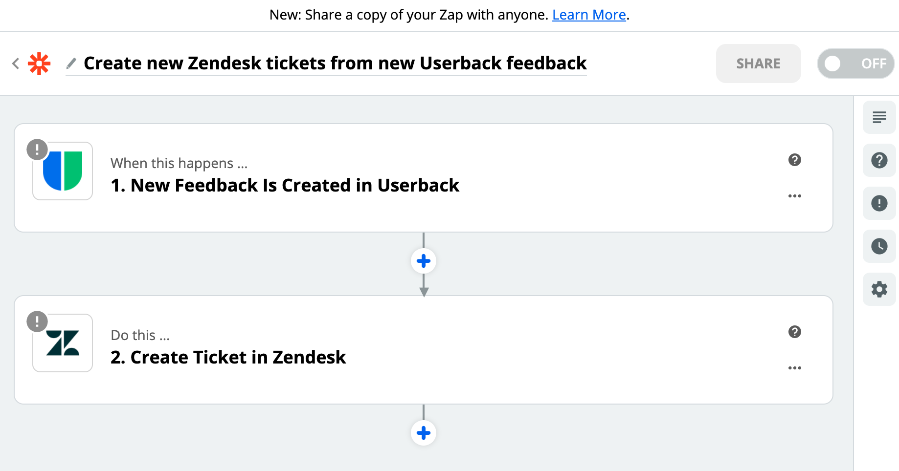 Userback Zapier Template